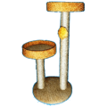 Стойка-когтеточка круглая с 2-мя платформами